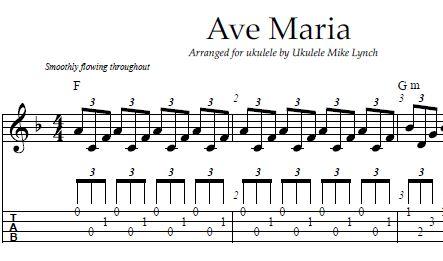 Ukulele ukulele tabs greensleeves : AVE MARIA – Bach/Gounod – Arranged for Ukulele by Ukulele Mike ...