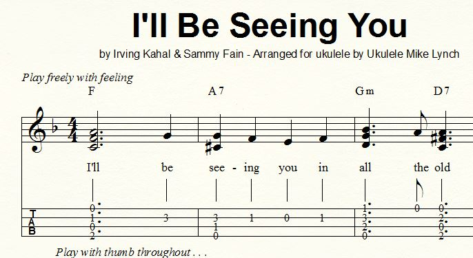 Classic World War Ii Era Song Ill Be Seeing You By Sammy