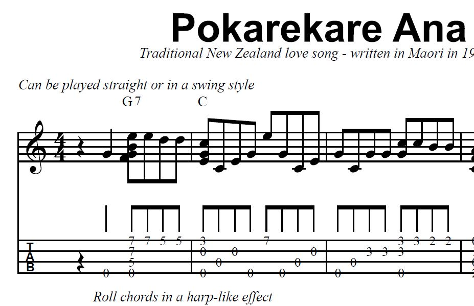 Pokarekare Ana Traditional New Zealand Maori Love Song 1914