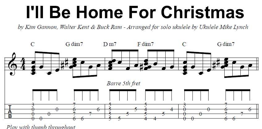 I Ll Be Home For Christmas Ukulele Chords Juveique27