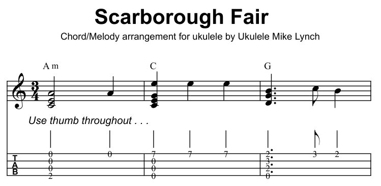 "SCARBOROUGH FAIR"" – Old English Ballad – now available as a CHORD ..."