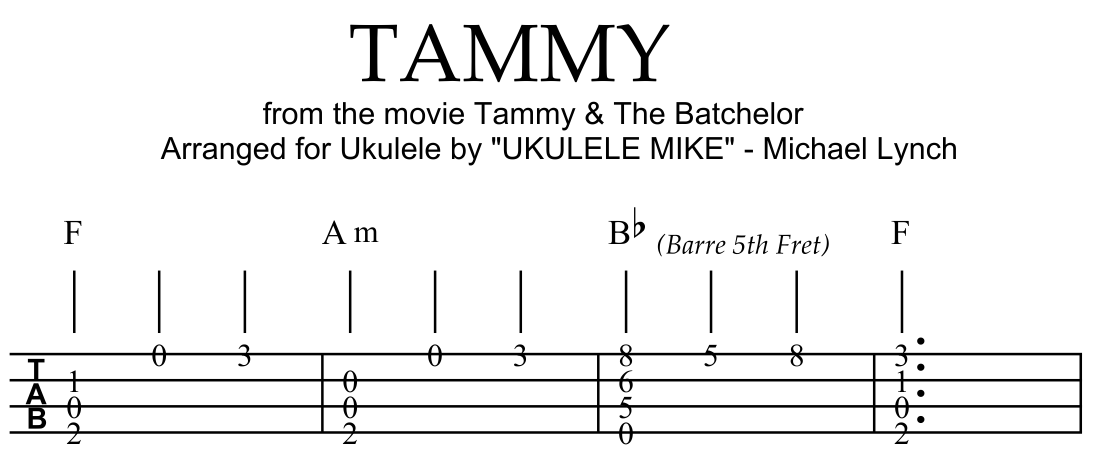 "TAMMY"" from the motion picture TAMMY AND THE BACHELOR. . . . Solo ..."