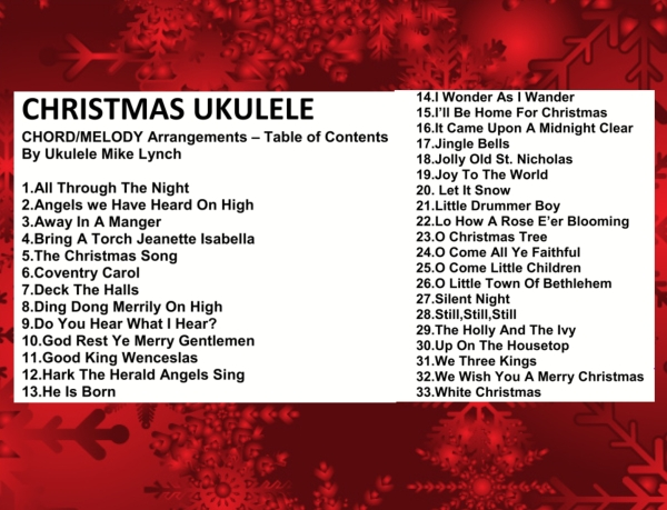 Christmas Chord Melody contents slide