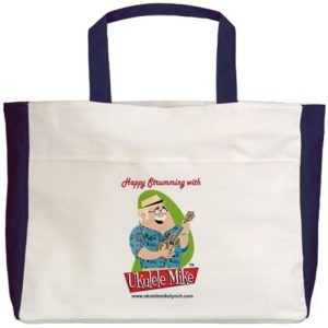 Ukulele Mike Lynch Beach Tote
