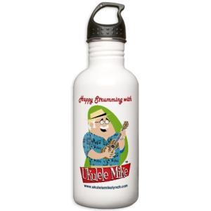 Ukulele Mike Lynch Water Bottle