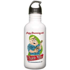 Ukulele Mike Lynch Water Bottle