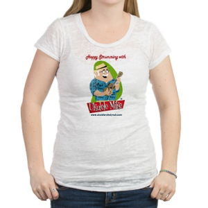 Ukulele Mike Lynch Women's Burnout Tee