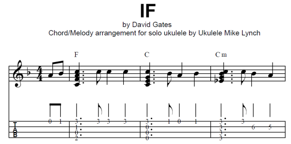 If By David Gates Of Bread Chord Melody Arrangement By