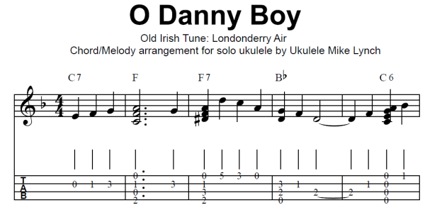 "O DANNY BOY"" (Chord/Melody version) . . . . Chord/Melody arrangement ..."